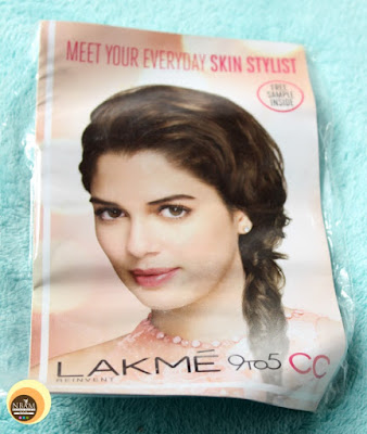 Lakme 9-5 CC cream sample in beige shade