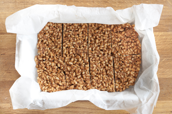 almond butter and maple syrup rice crispy treats