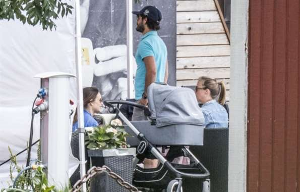 Prince Carl Philip, Prince Alexander and Princess Sofia Hellqvist of Sweden were seen at a lunch