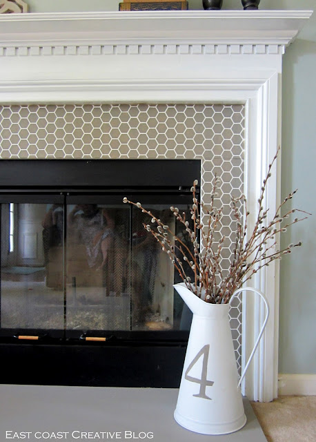 new painted fireplace