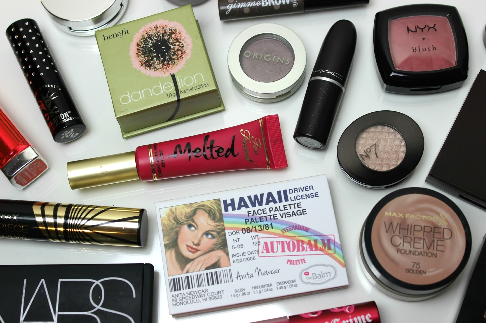 A picture of high-street and high-end beauty products
