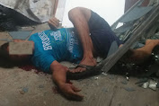 Subhanallah !!!, Pria Jatuh Di Lahan Kosong Belakang Gudang Indomaret