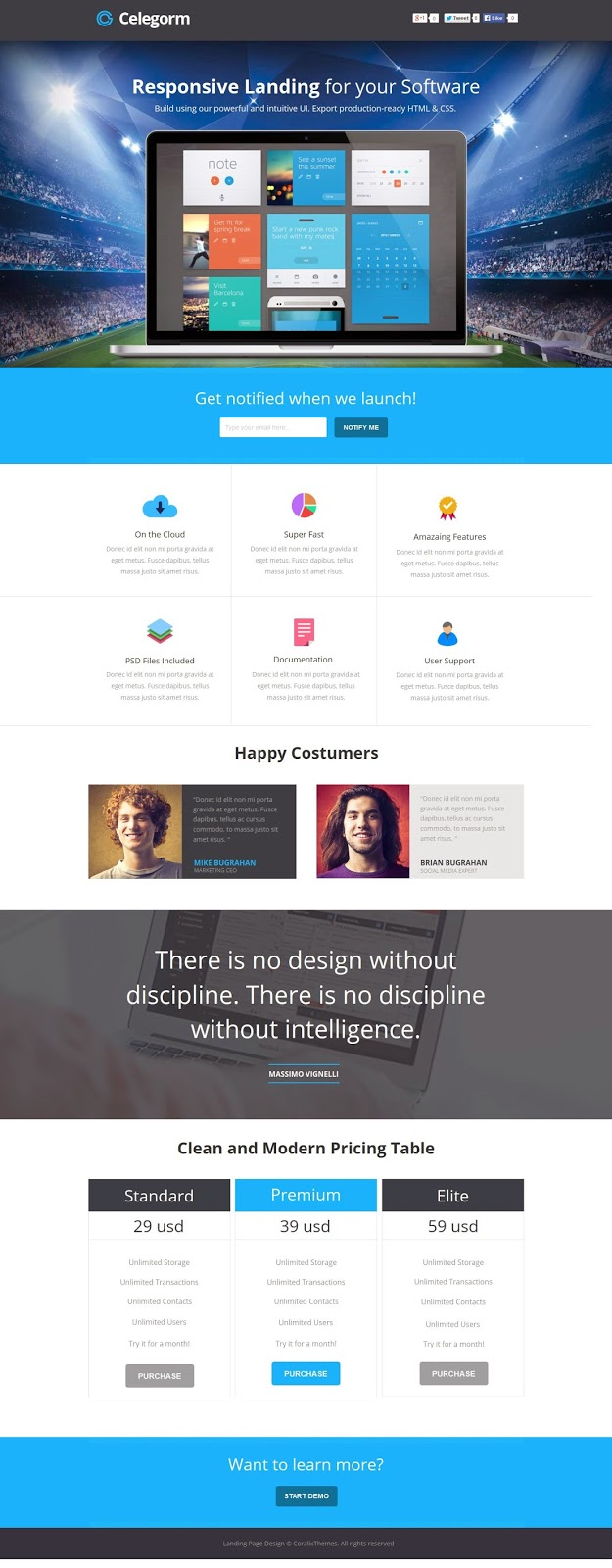 Instapage Landing Page Template