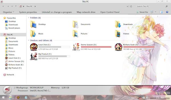 Natsu x Lucy (Theme Windows 8 ) 3