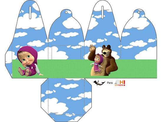 Festa a tema masha e orso schemi gratis per costruire for Masha e orso stampa e colora