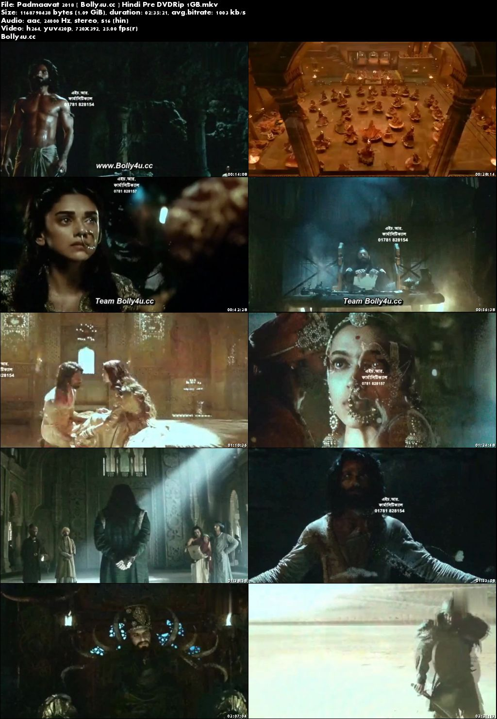 Padmaavat 2018 Pre DVDRip HQ 1Gb Full Hindi Movie Download