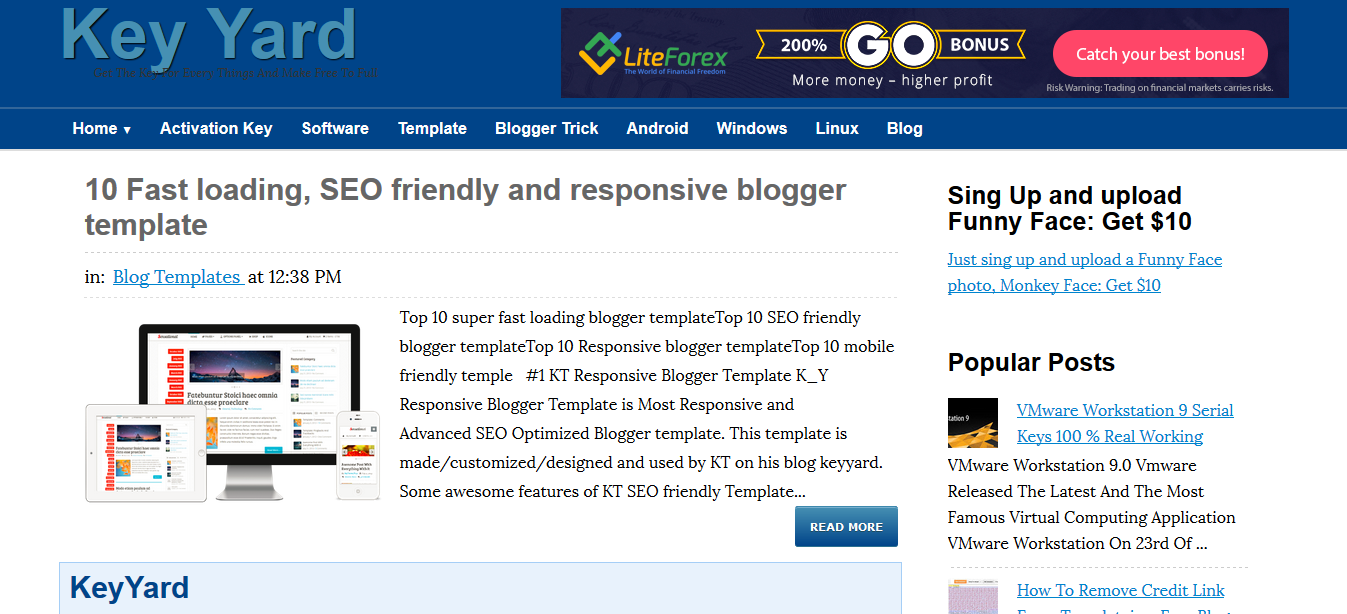Top 10 Fast loading, SEO friendly and responsive blogger templates