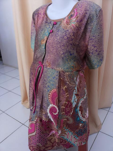 Desain Baju Batik Hamil Kerja Lengan Pendek Bahan Nyaman