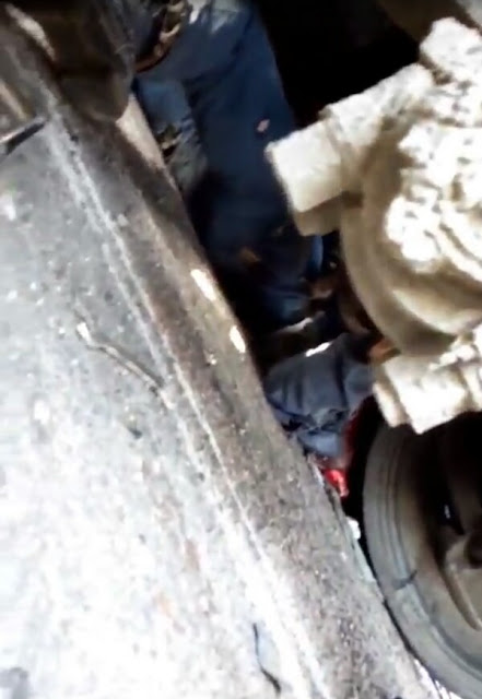 Truck crushes soldier to death in Lagos; his head completely smashed (graphic photos)