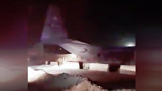 C-130 AU AS Overshoot di Landasan Pacu