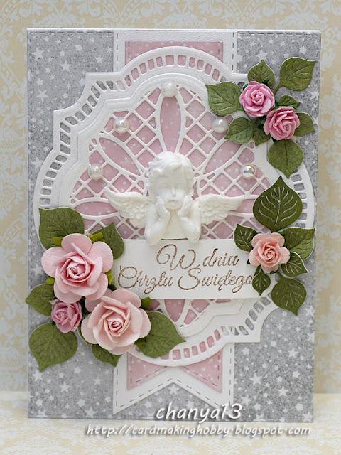 kartka z okazji chrztu św. dla dziewczynki