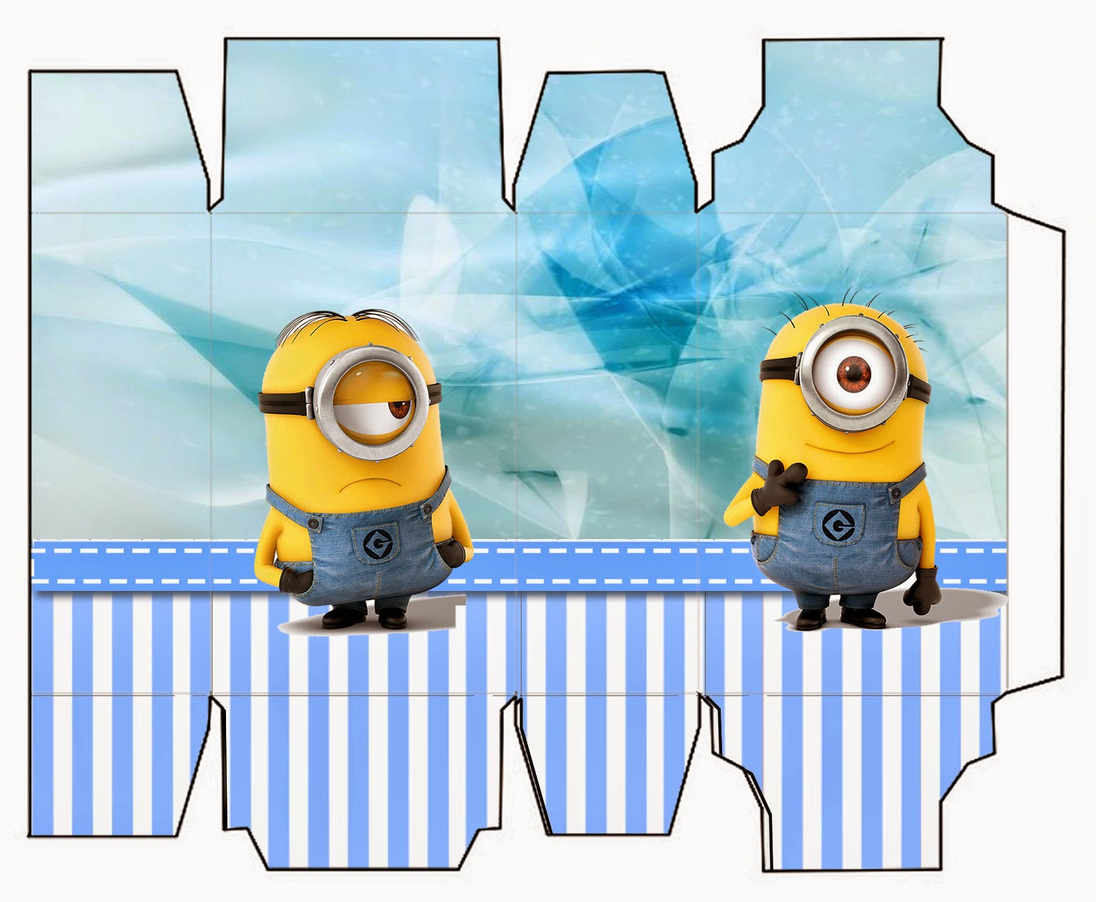 Minions On Blue Background Free Printable Mini Kit Oh