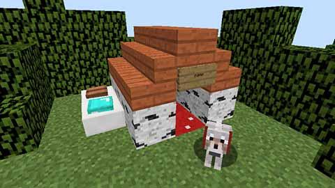 マイクラの犬小屋画像01