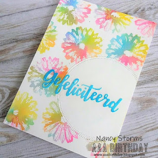 Faux watercolor stamping