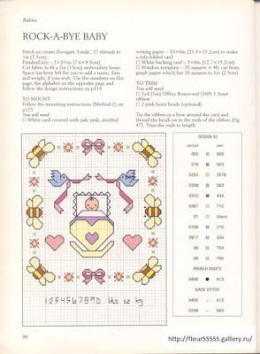 Schemi a punto croce per corredini,culle, abitini con motivi e disegni