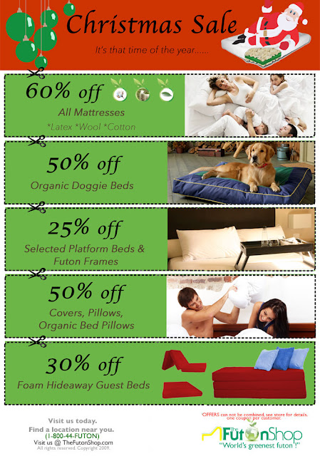 Chemical Free Futon Christmas Sale