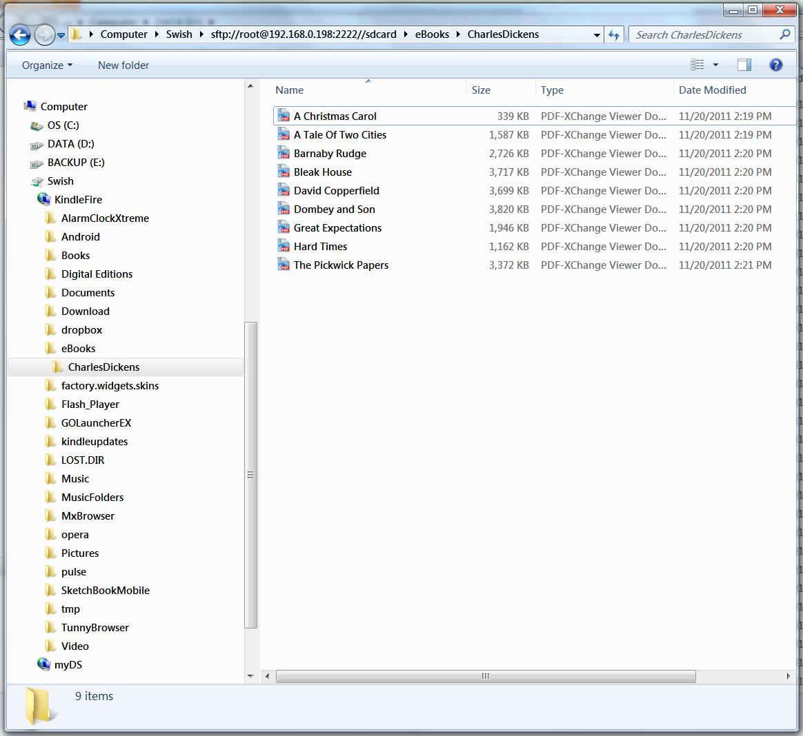 techieNetizen's Web Log: Kindle Fire: WiFi File transfer