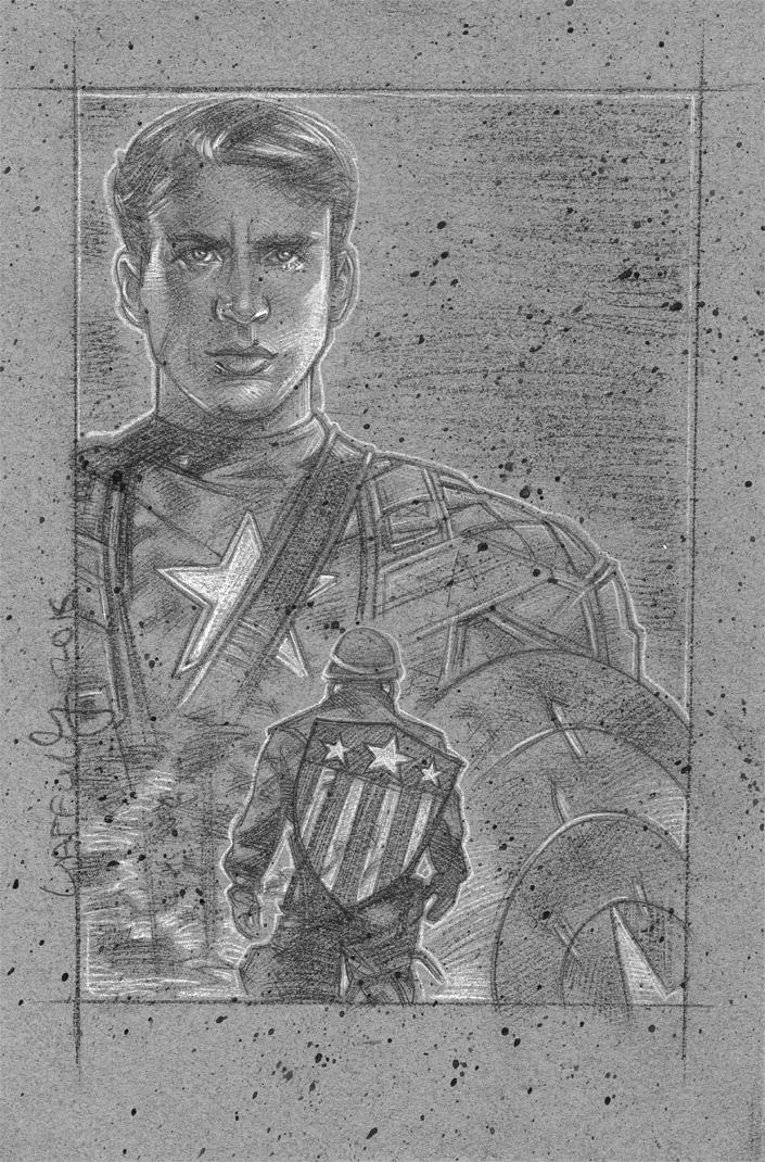 Chris Evans Captain America artwork © JEFF LAFFERTY 2016
