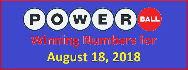 PowerBall Winning Numbers for Saturday, 18 August 2018