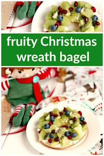 Fruity Christmas Wreath Bagel