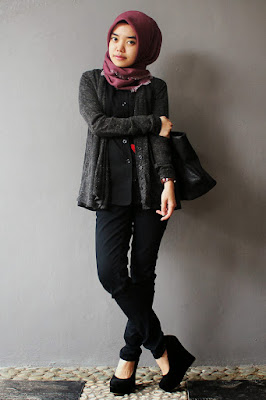 model hijab kampus jilbab kampus naka