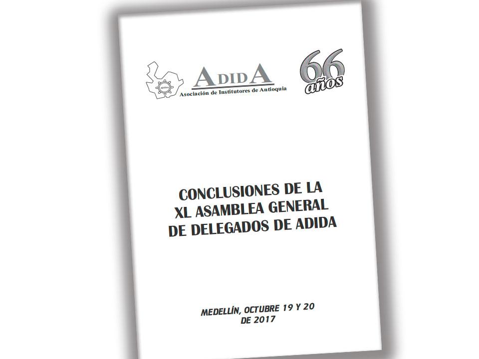 Conclusiones XL Asamblea General de Delegados de ADIDA