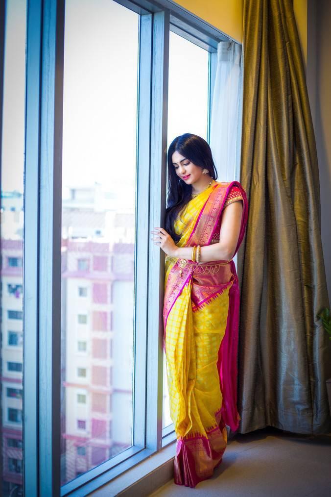 Adah Sharma Photoshoot For Saree Niketan