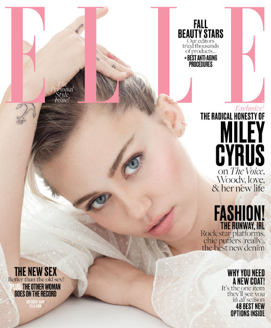 Actress, Singer, @ Miley Cyrus by Terry Tsiolis for Elle US, October 2016