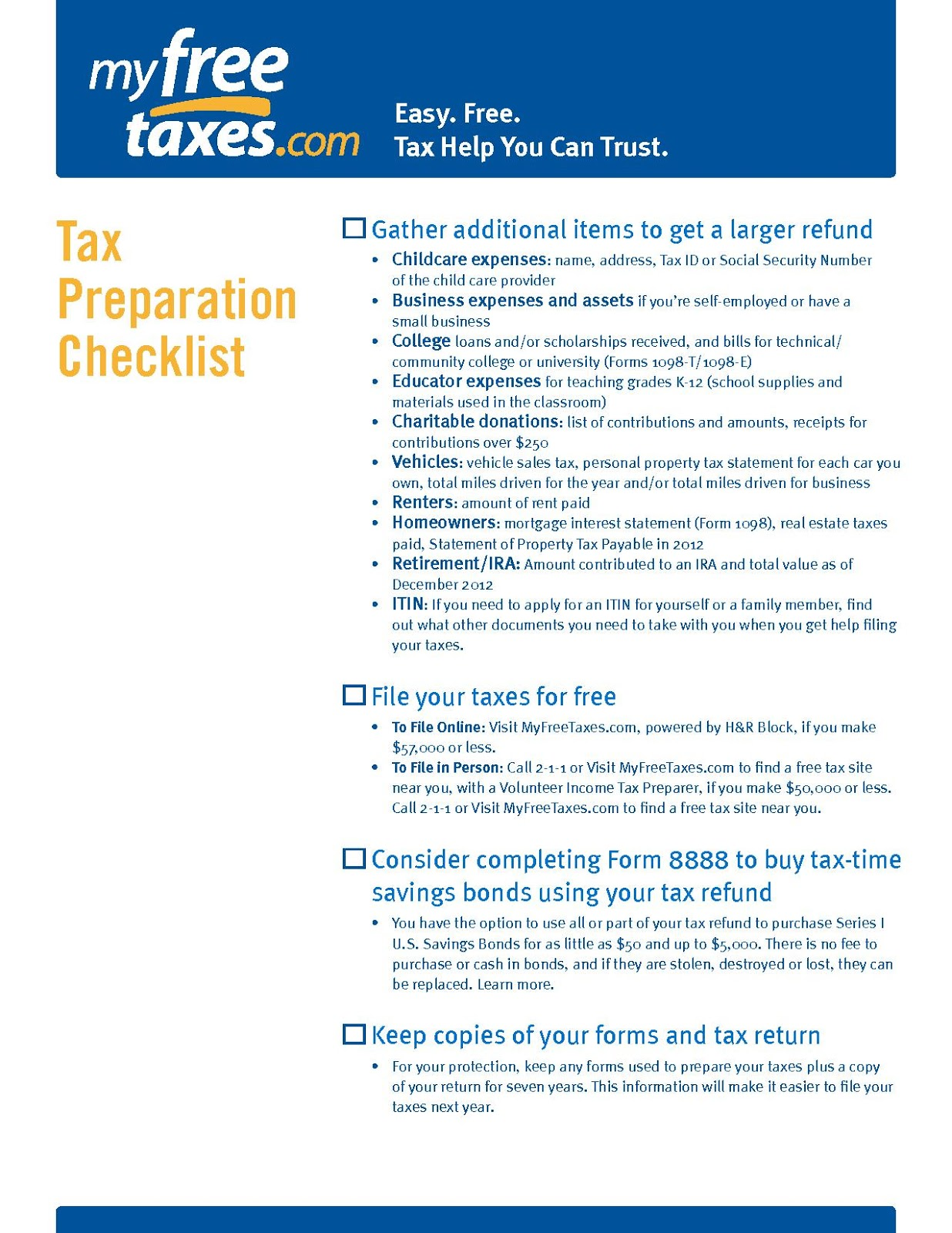 Fresh Start Outreach Ministry My Free Taxes