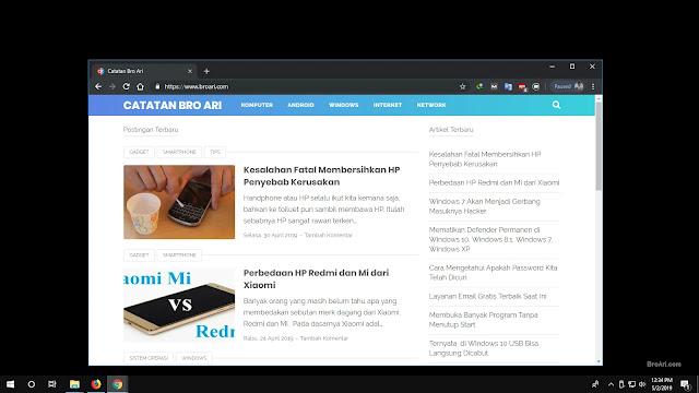 Mengaktifkan Dark Mode pada Google Chrome