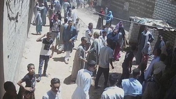 يحدث الأن من قوات الأمن .. لمنع هجوم الأهالي على الكنيسة