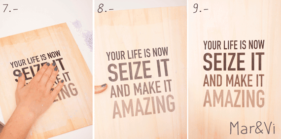 transferir una imagen sobre madera