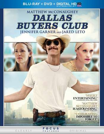 Poster Of Dallas Buyers Club 2013 English 350MB BRRip 480p ESubs Free Download Watch Online Worldfree4u