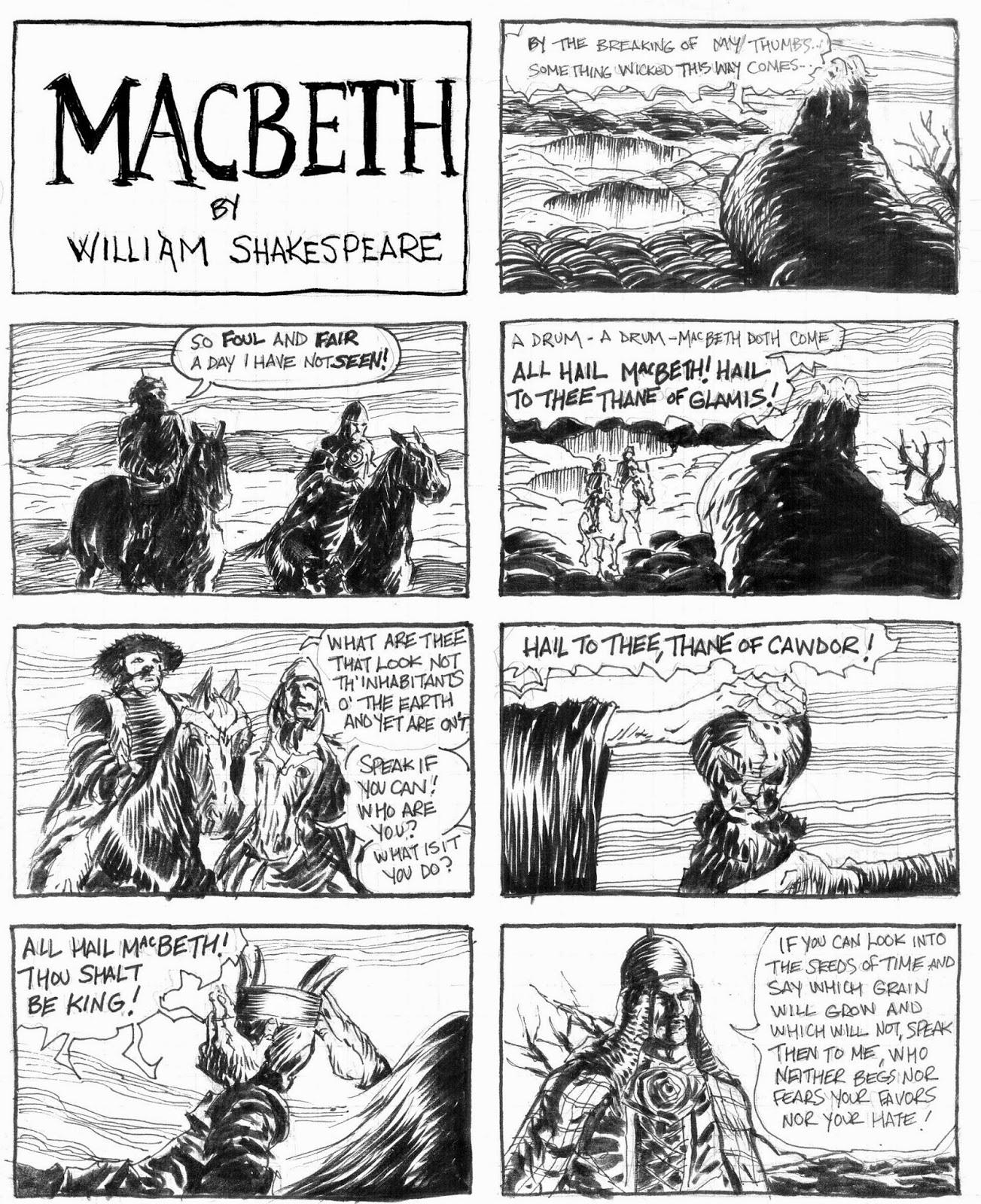 comic macbeth shakespeare strip
