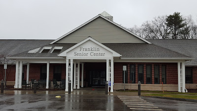 Franklin Senior Center in winter rain