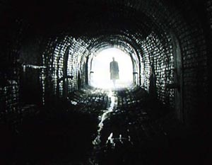 Man at end of tunnel The Third Man 1949 Joseph Cotten Orson Welles