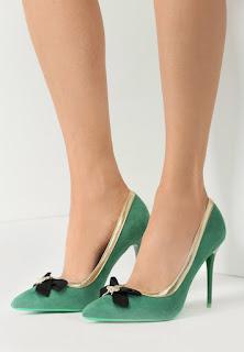 Pantofi cu toc Selinia Verzi