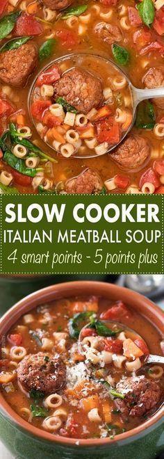 SLOW COOKER ITALIAN MEATBALL SOUP