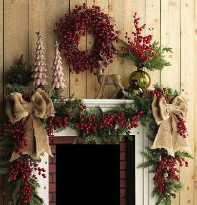 Decor Bazaar Best Above Fireplace Christmas Decoration Ideas