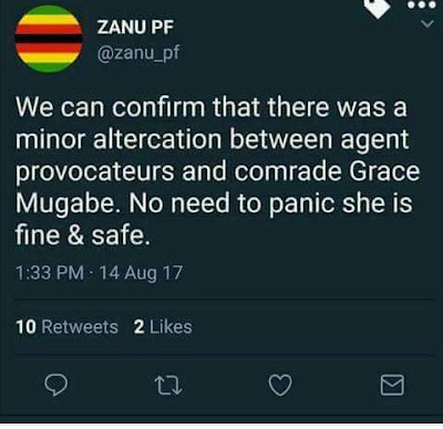 President Mugabe's wife