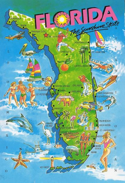 World In Mailbox Florida Map Card