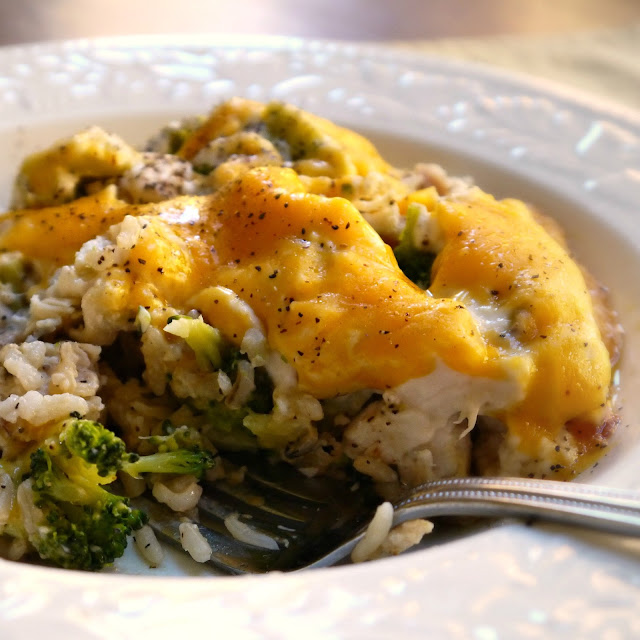 sweet little bluebird chicken divan rice and broccoli