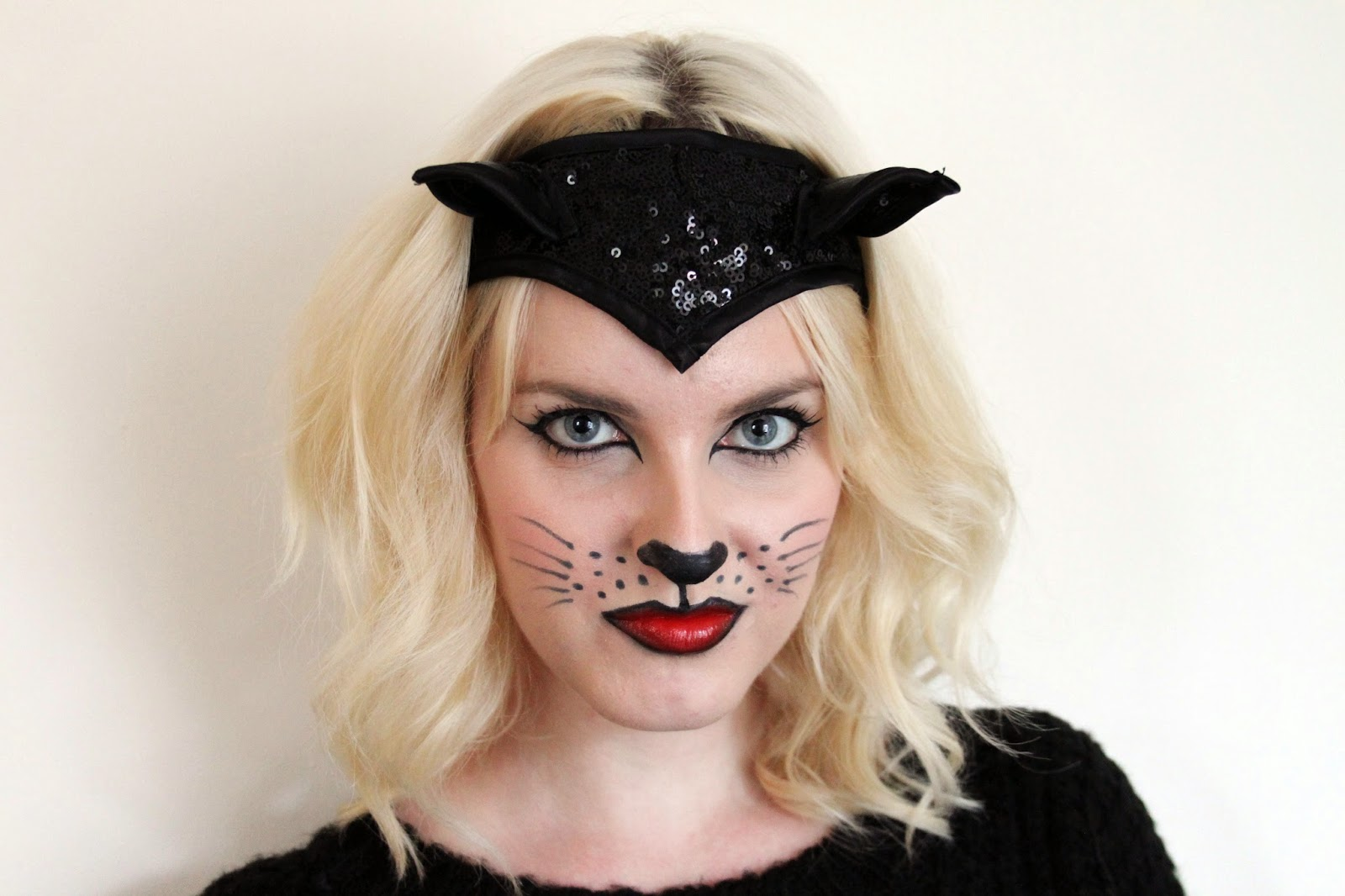 halloween cat make up tutorial
