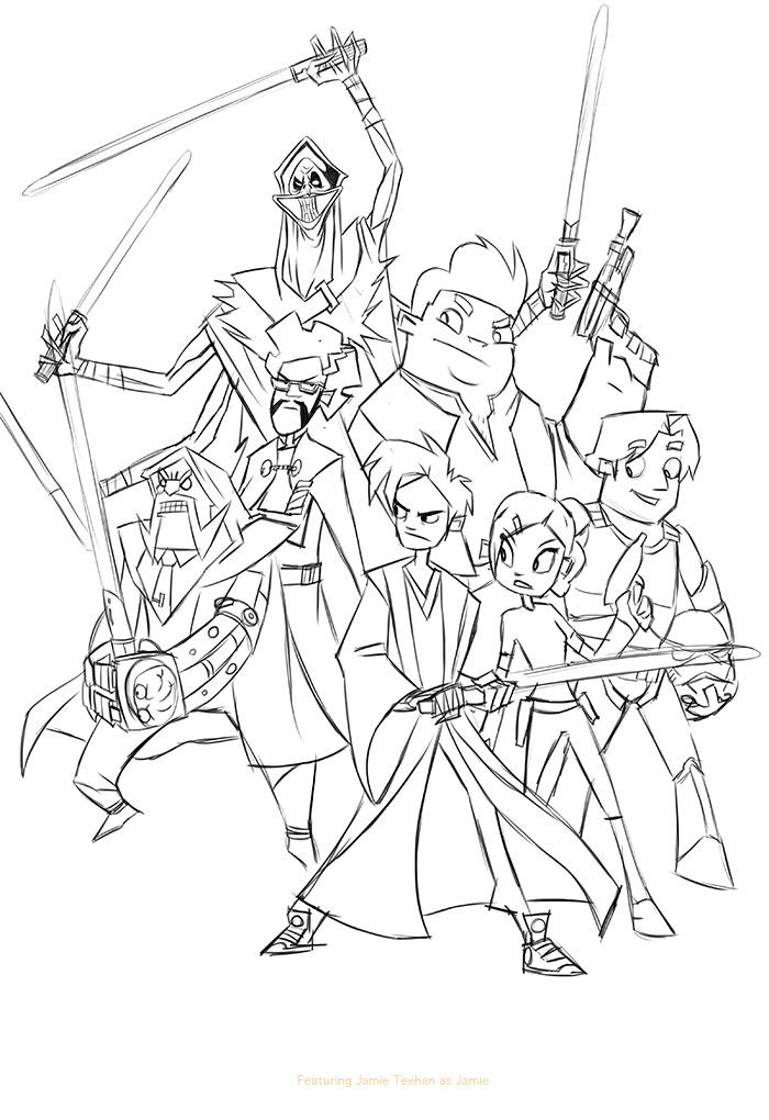 Let's Animate: Randy Cunningham / Star Wars Fanart + Step