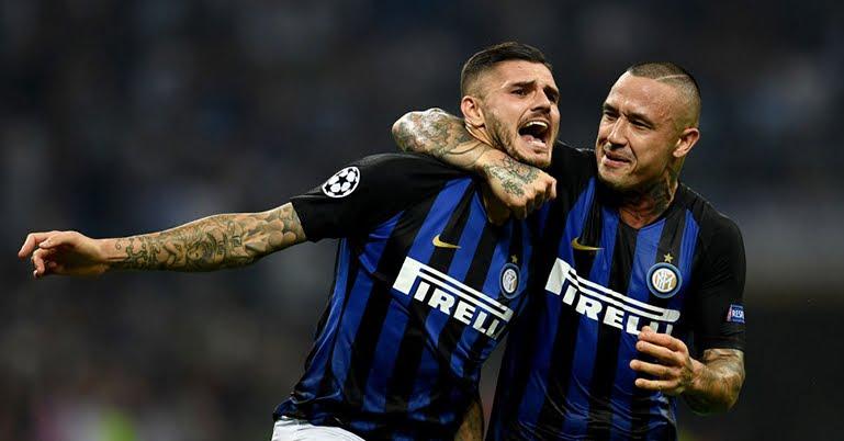 Inter-Fiorentina 2-1, Icardi segna il primo gol in questa stagione.