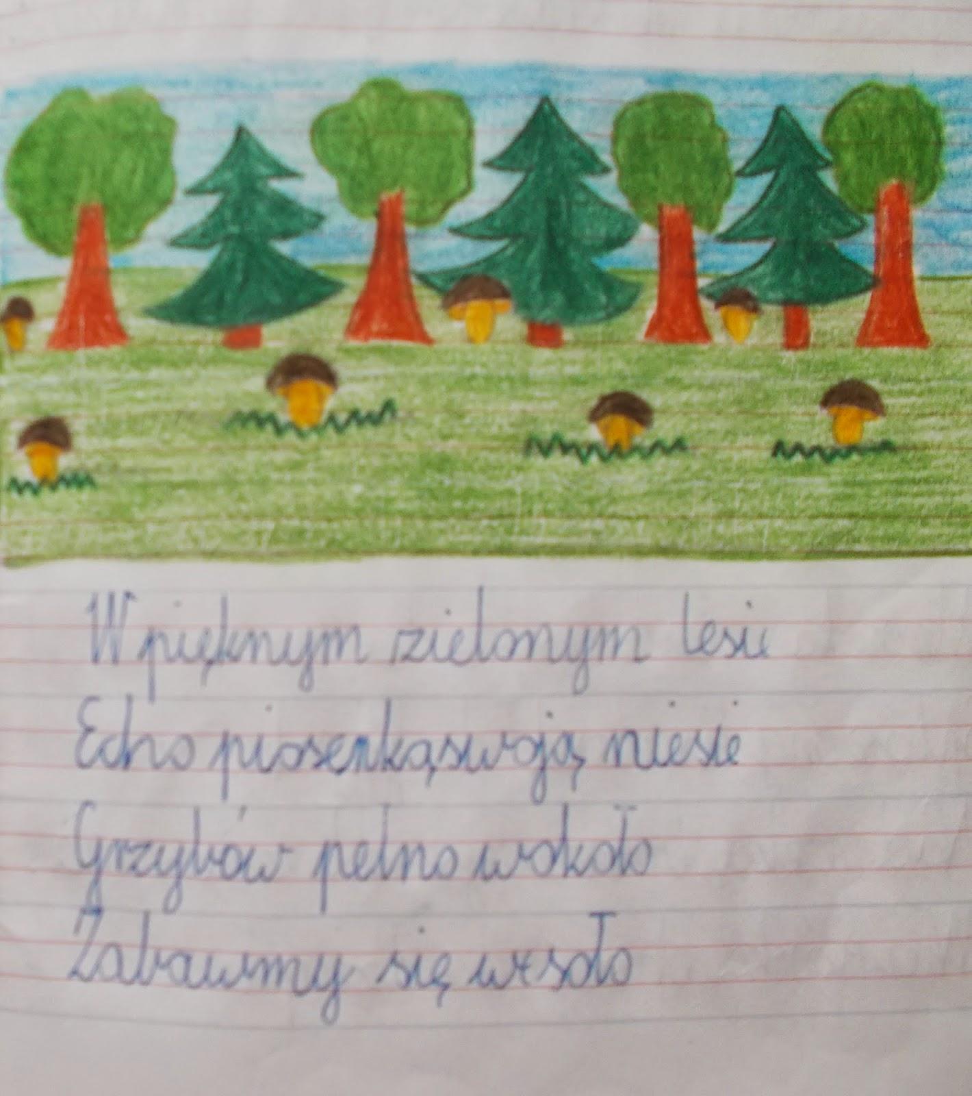 Codziennik Kl 2c Bardzo Krótkie Wierszyki O Lesie