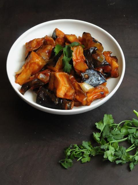 Eggplant Manchurian, Kathirikkai Manchurian