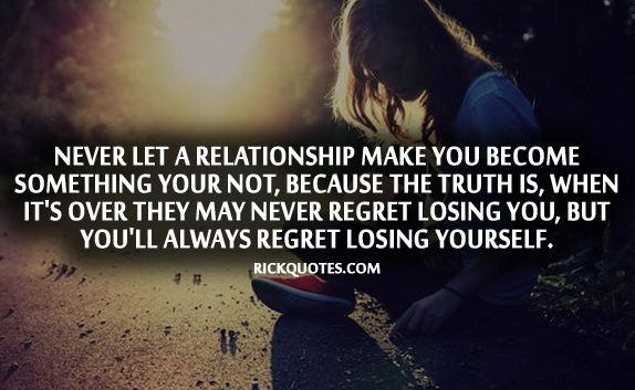 Relationship Quotes | You'll Always Regret Losing Yourself Girl alone On road
