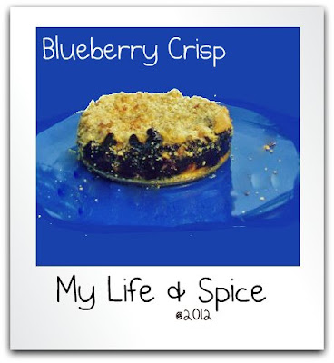 blueberry, crisp, summer, fruit