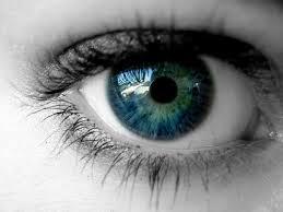 من أجزاء العين وهي التي تعطي لون العين